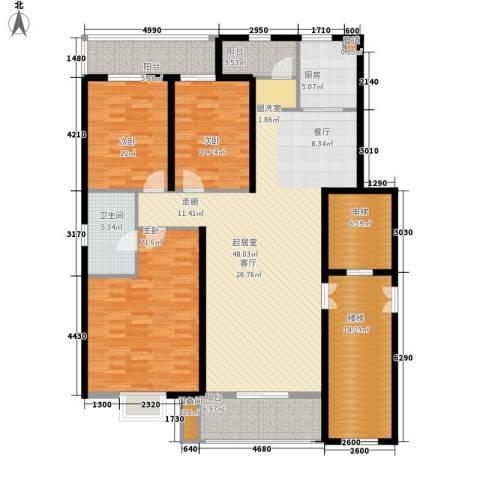 香堤雅墅3室0厅1卫1厨200.00㎡户型图