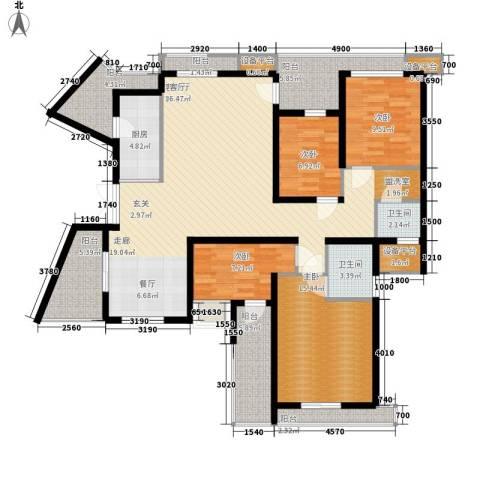 百悦尚城4室1厅2卫1厨181.00㎡户型图