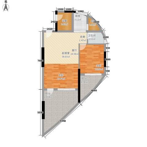 海韵华庭1室0厅1卫1厨101.00㎡户型图