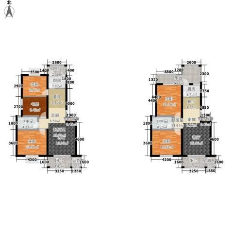 华府世家5室0厅2卫2厨154.19㎡户型图