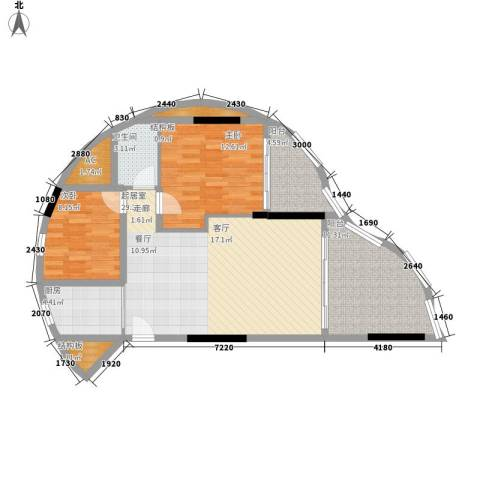海韵华庭2室0厅1卫1厨112.00㎡户型图