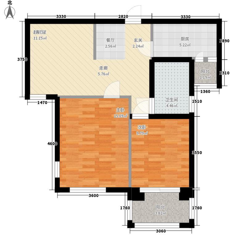 富苑新城89.64㎡户型2室2厅
