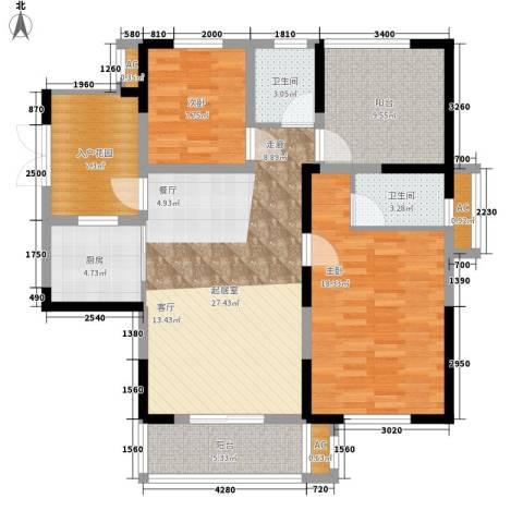 天明城2室0厅2卫1厨129.00㎡户型图