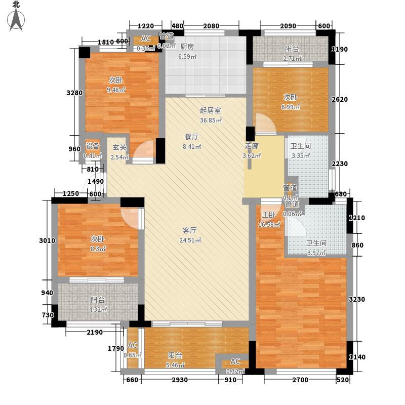 中南锦苑125.00㎡R1户型4室2厅
