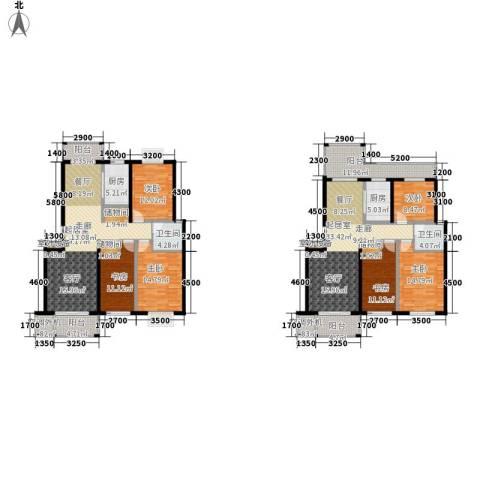华府世家6室0厅2卫2厨194.80㎡户型图