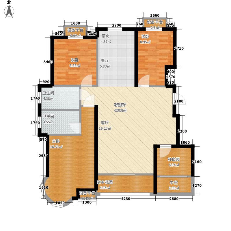 金洋石河湾123.92㎡1#/10#A2户型3室2厅