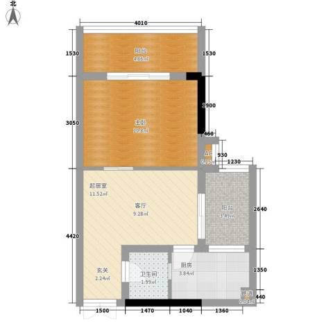 水务龙城天都1室0厅1卫1厨38.00㎡户型图