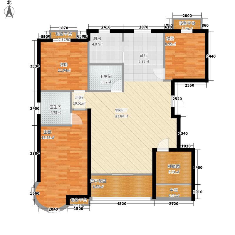 金洋石河湾139.38㎡5-6#A2ˊ户型3室2厅