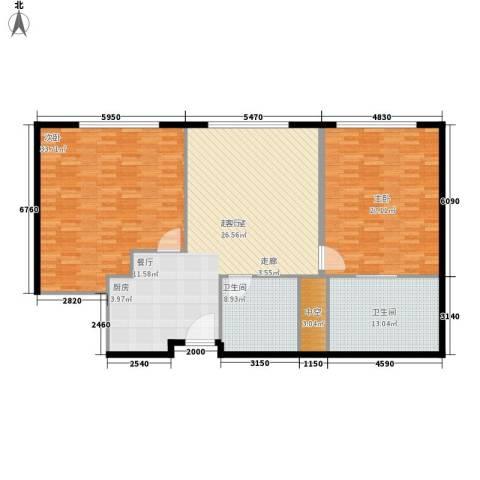 天津中心2室0厅2卫0厨142.00㎡户型图