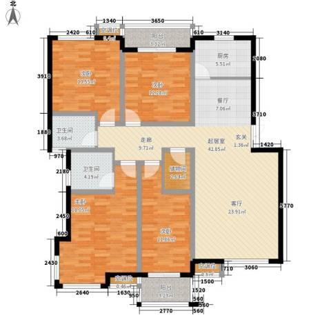 万煦园4室0厅2卫1厨141.00㎡户型图