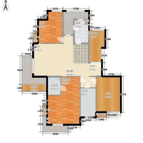 百悦尚城3室1厅2卫1厨213.00㎡户型图
