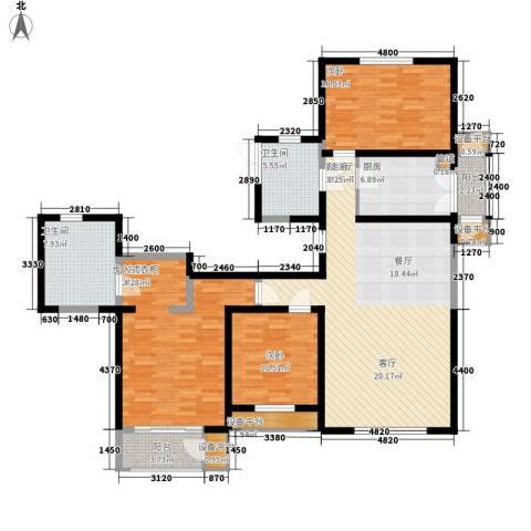 格调竹境3室1厅2卫1厨168.00㎡户型图