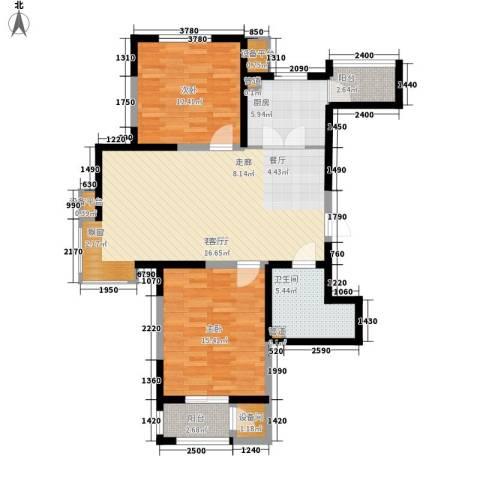 格调竹境2室1厅1卫1厨113.00㎡户型图