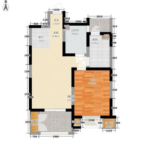 格调竹境1室1厅1卫1厨80.00㎡户型图