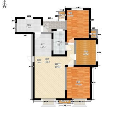 格调竹境2室1厅1卫1厨123.00㎡户型图