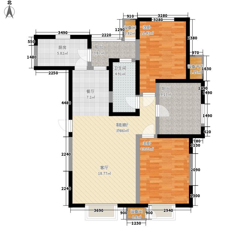格调竹境119.00㎡二期9号楼标准层面积11900m户型