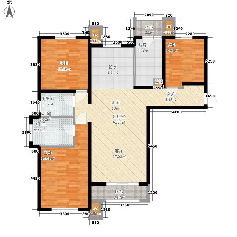 万通生态城新新家园147.00㎡高层1期1-13层A1户型