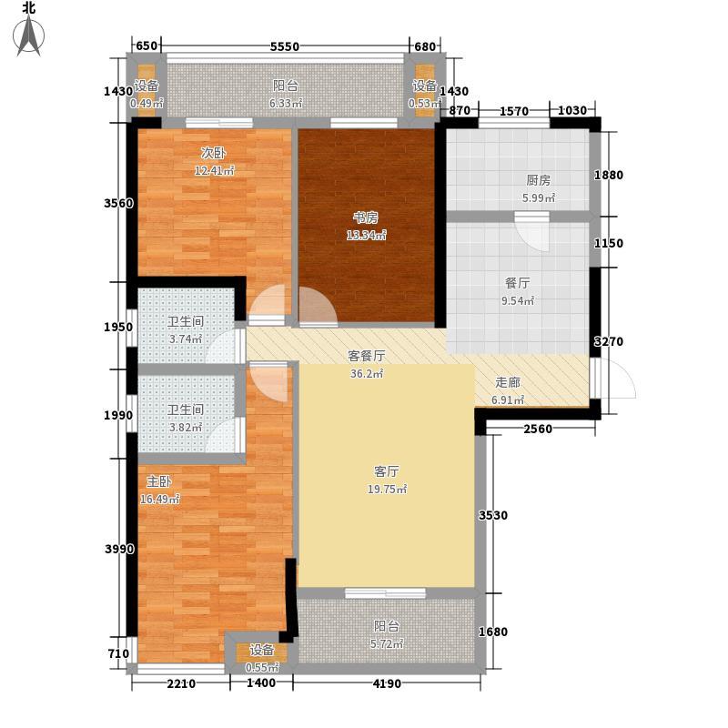金阳新城144.50㎡一期1-1面积14450m户型