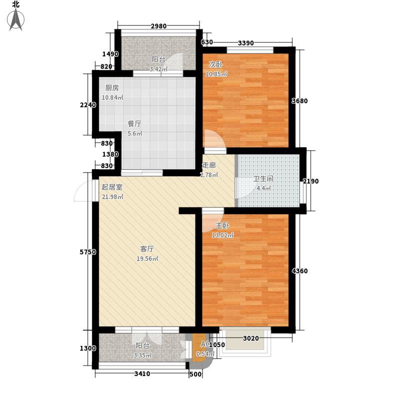 朝阳上品100.71㎡18、19、20号楼面积10071m户型