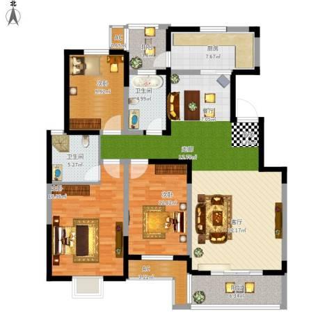 天久一品3室1厅2卫1厨163.00㎡户型图