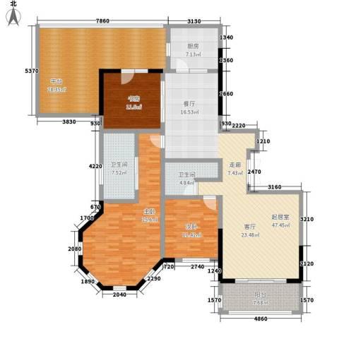 春晖园·随园3室0厅2卫1厨171.00㎡户型图
