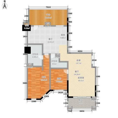 春晖园·随园2室0厅2卫0厨163.00㎡户型图