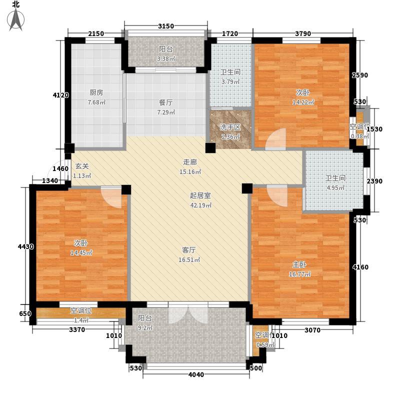 金府华庭134.00㎡6#、7#多层标准面积13400m户型
