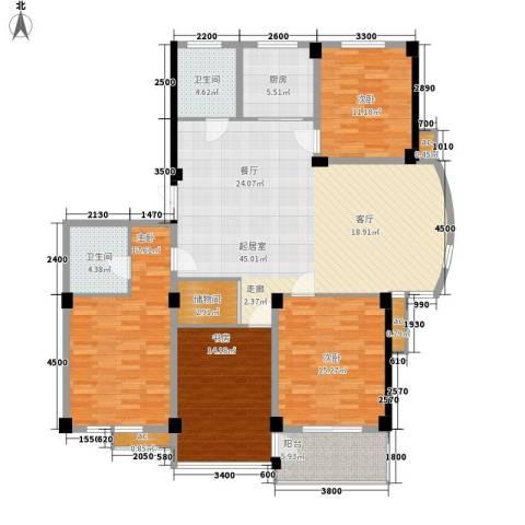 和润公寓4室0厅2卫1厨180.00㎡户型图