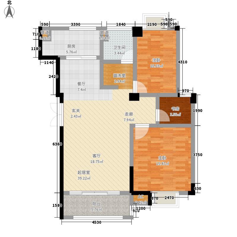 东景公寓99.85㎡M面积9985m户型