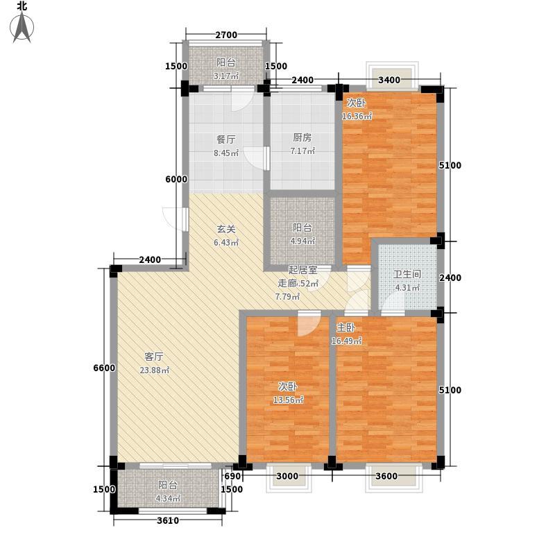 博雅名邸152.35㎡B12面积15235m户型