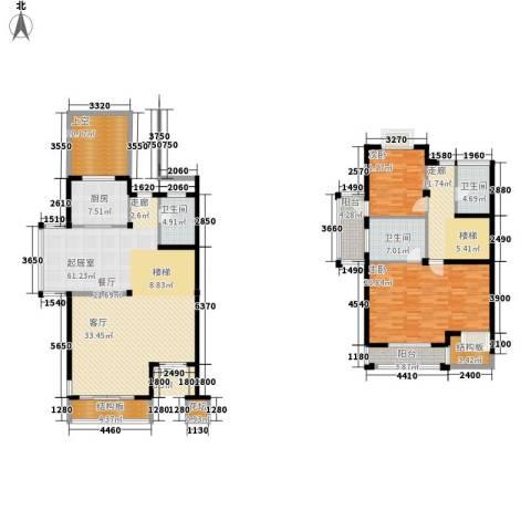 锦绣四明2室0厅3卫1厨162.13㎡户型图