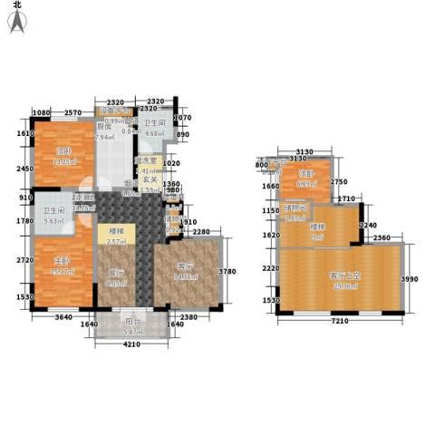 团泊湖光耀城3室0厅2卫1厨158.00㎡户型图