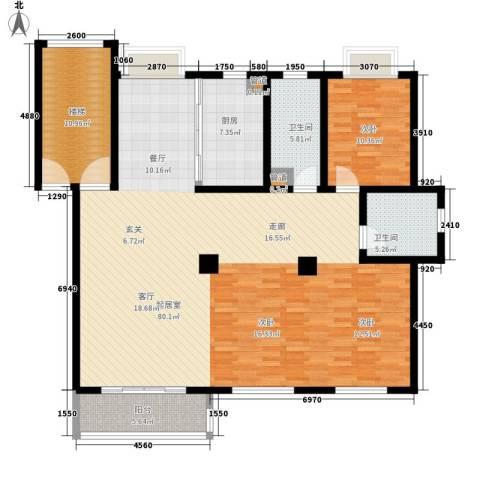 吴越新天广场1室0厅2卫1厨141.12㎡户型图