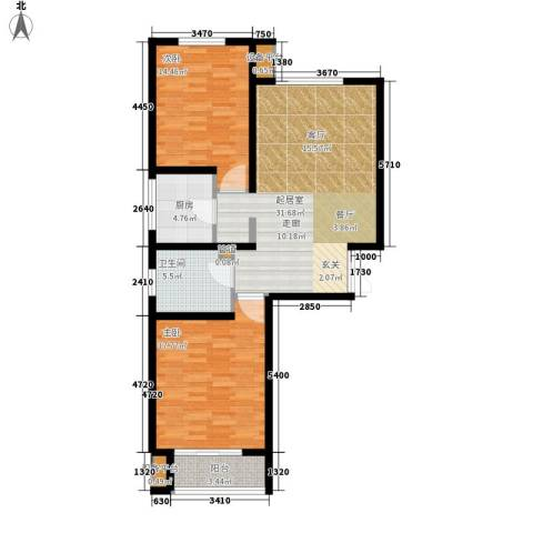 双清别院2室0厅1卫1厨92.00㎡户型图