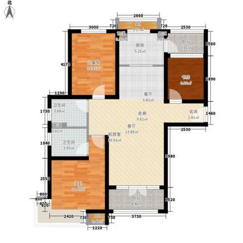 碧桂园滨海城3室0厅2卫1厨120.00㎡户型图