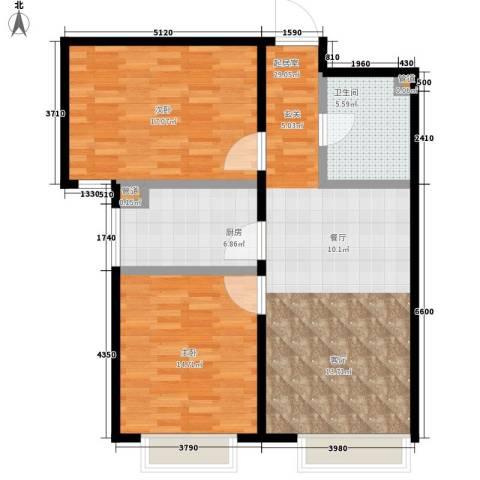 慧翔龙苑2室0厅1卫1厨83.00㎡户型图