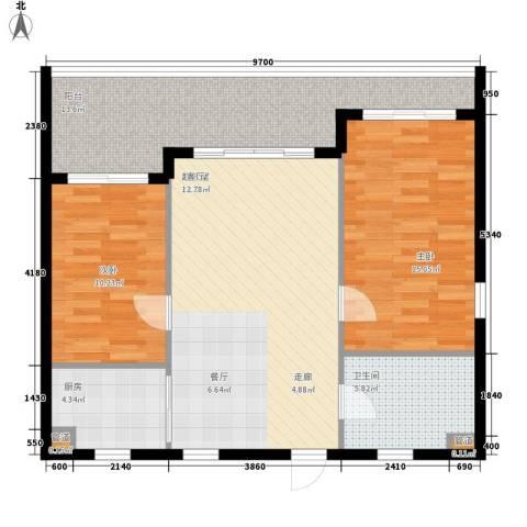 双大・山湖湾2室0厅1卫1厨104.00㎡户型图