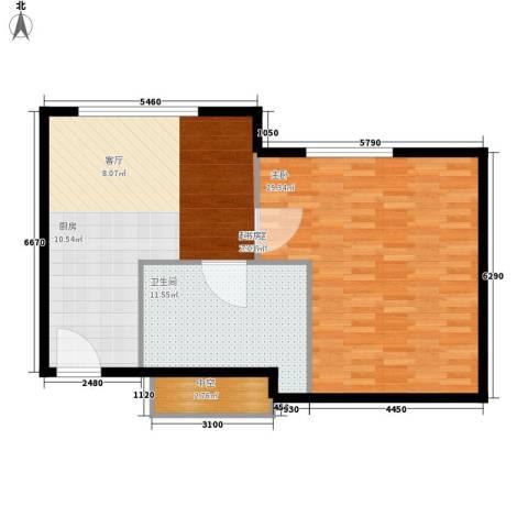 天津中心1室0厅1卫0厨76.00㎡户型图