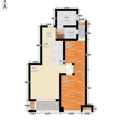 润德天悦城2室0厅1卫1厨97.00㎡户型图