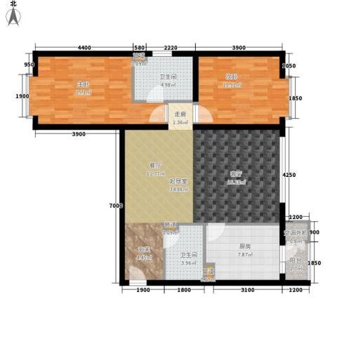 水电小区2室0厅2卫1厨115.00㎡户型图