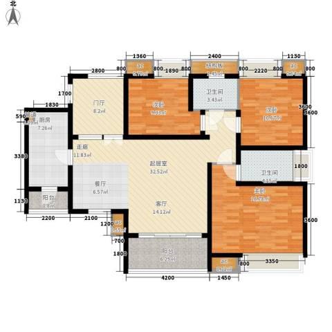 鲁能星城九街区3室0厅2卫1厨138.00㎡户型图