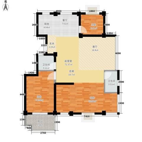 银河景苑2室0厅2卫0厨115.83㎡户型图