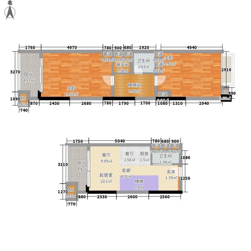 奥园广场61.00㎡曼哈顿尚层B面积6100m户型