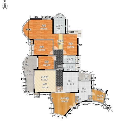 珠江帝景苑4室0厅3卫1厨200.00㎡户型图