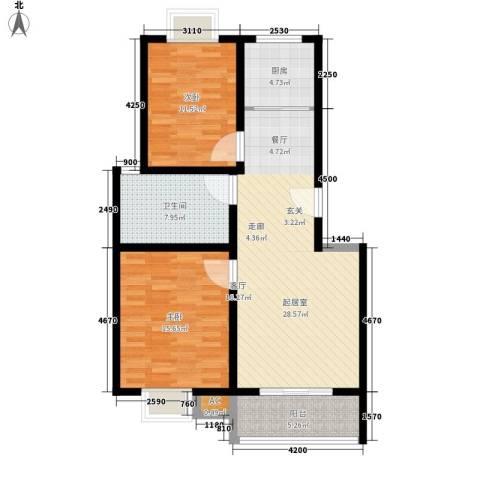 印象生活广场2室0厅1卫1厨85.00㎡户型图