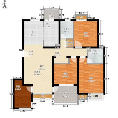 湖山新意4室0厅2卫1厨139.00㎡户型图