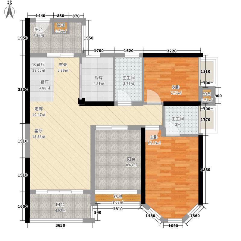 豪利花园95.86㎡三期城中荟豪景阁A栋2-13层01户型