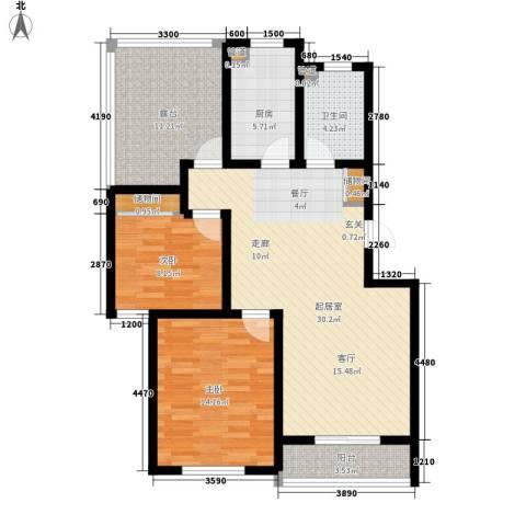 金厦水语花城2室0厅1卫1厨91.00㎡户型图