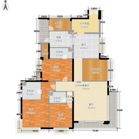 中海银海湾3室1厅3卫1厨219.00㎡户型图