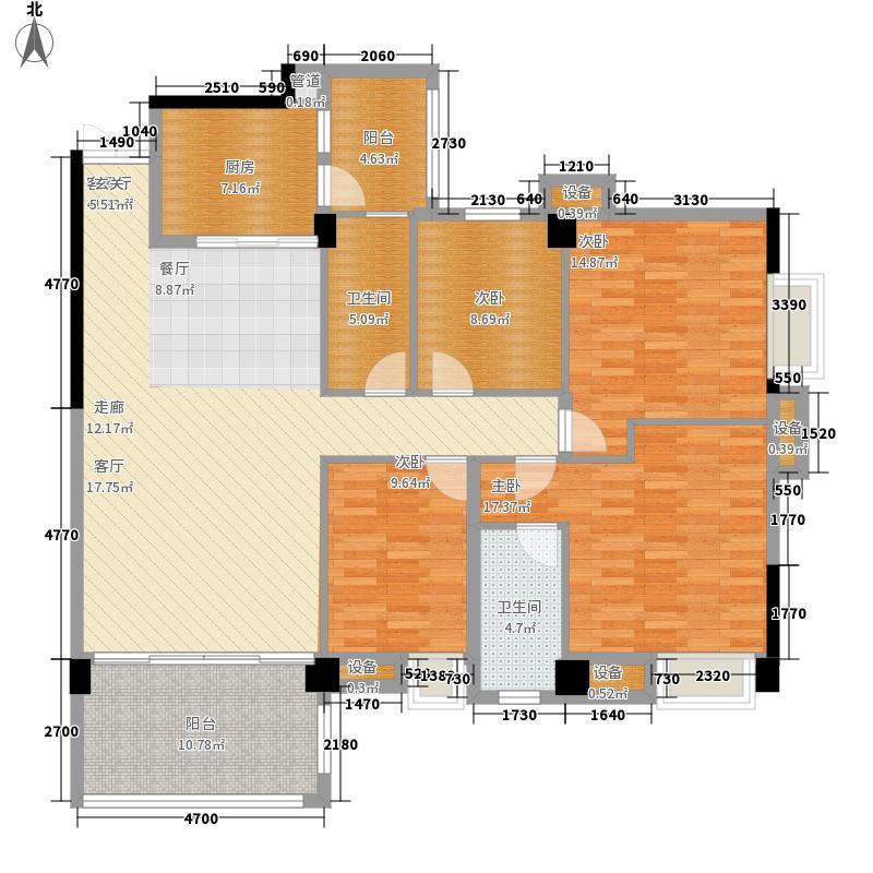 豪利花园142.45㎡祥云阁(2-11层)-A01户型